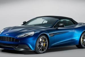 Aston Martin Vanquish blue volante A5