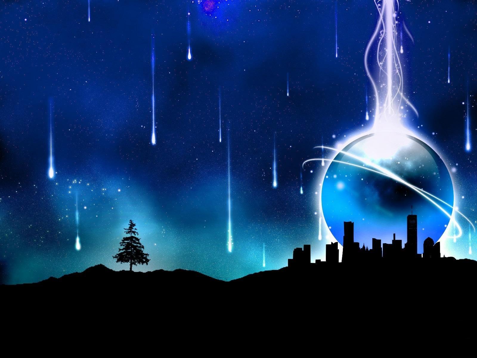 abstract wallpapers hd blue city - HD Desktop Wallpapers ...