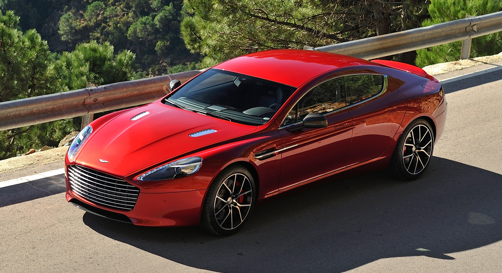 aston martin rapide red view