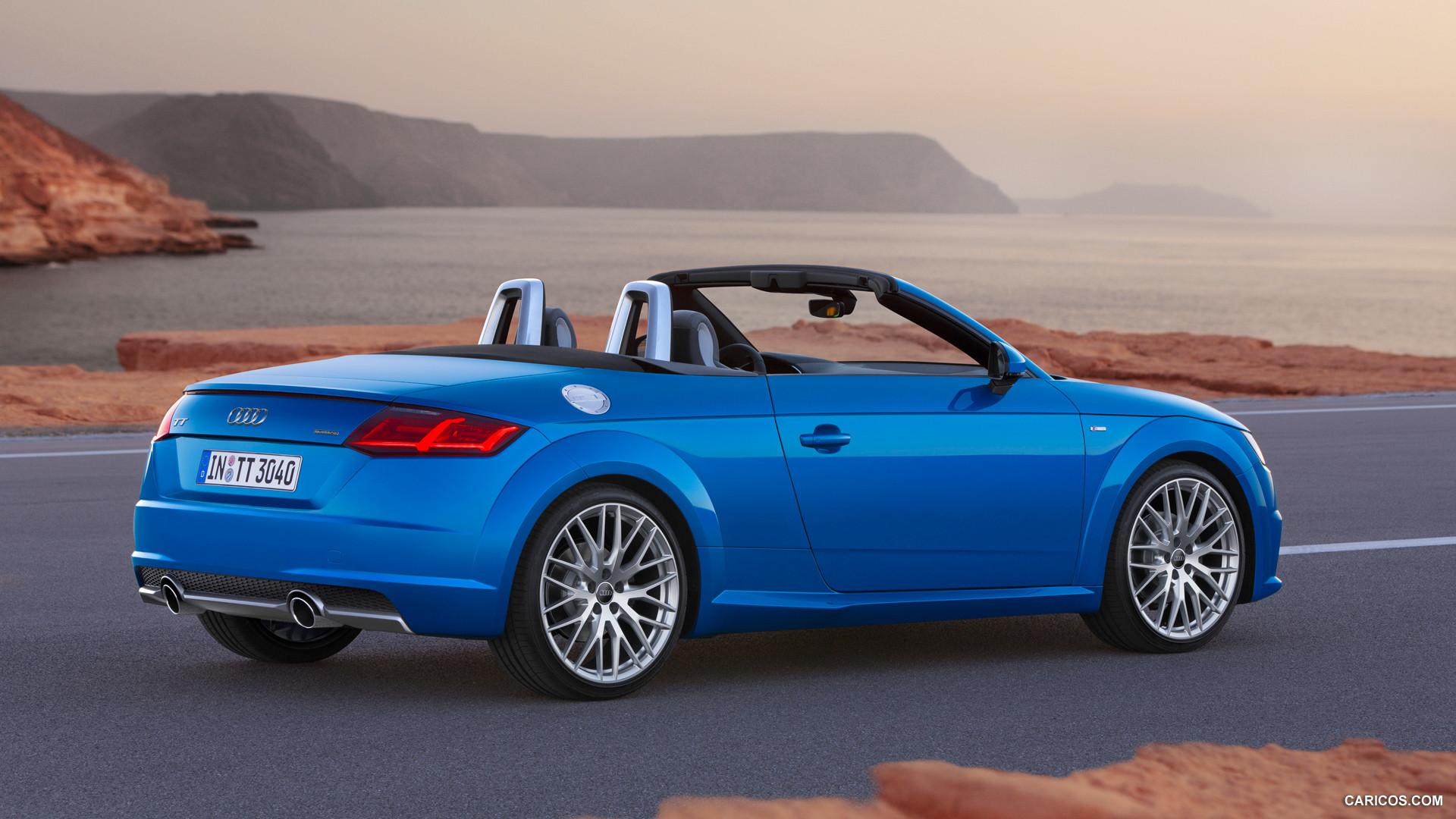 audi tt roadster blue hd