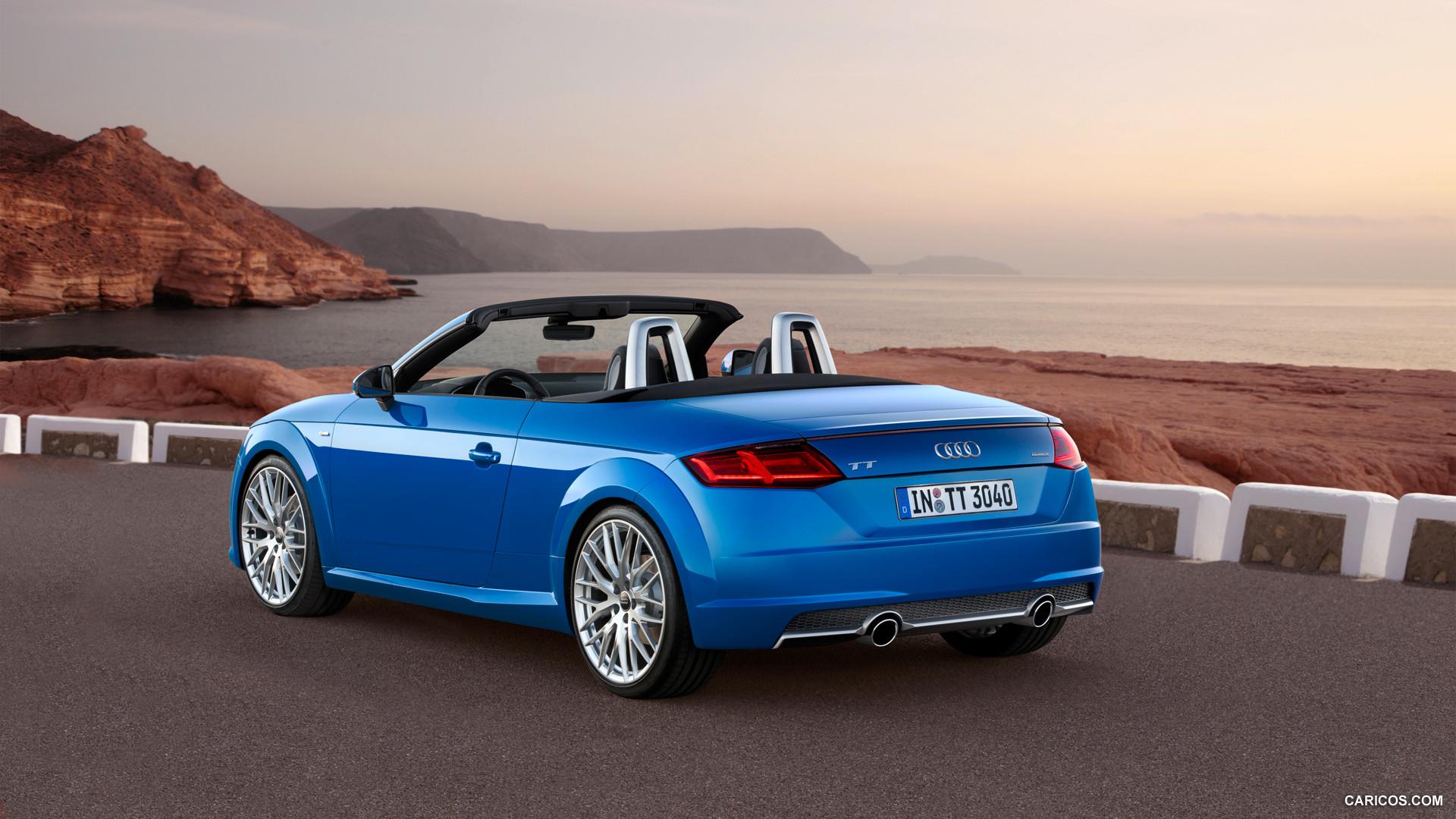 audi tt roadster blue