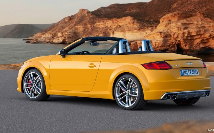 audi tt roadster yellow side 2