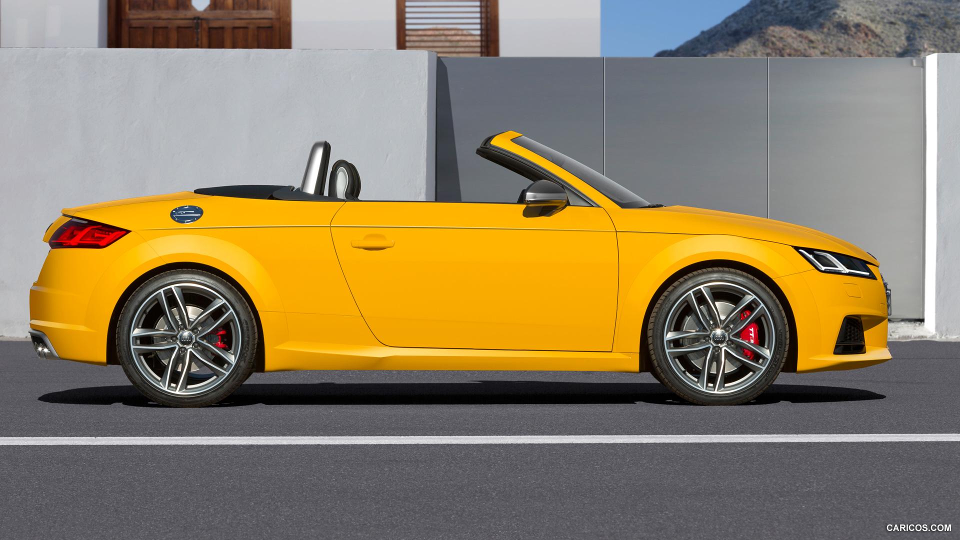audi tt roadster yellow sides