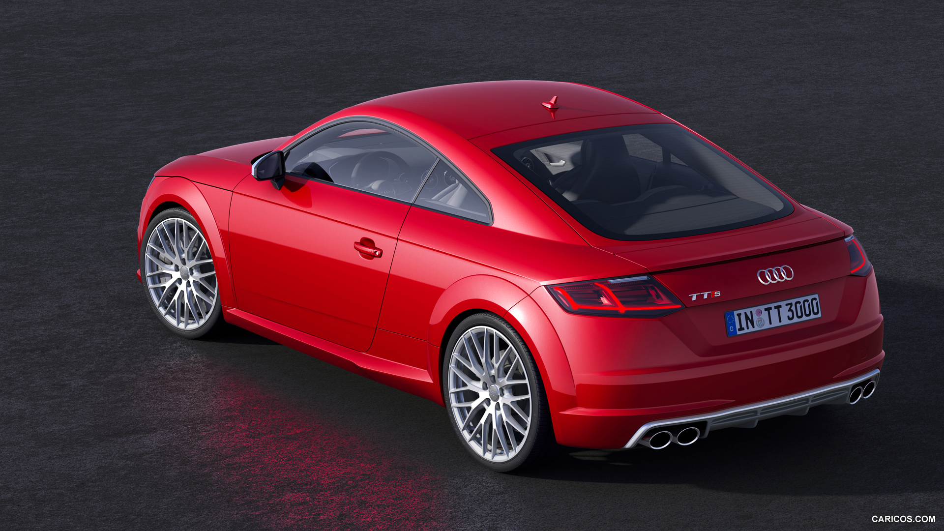 audi tts red background