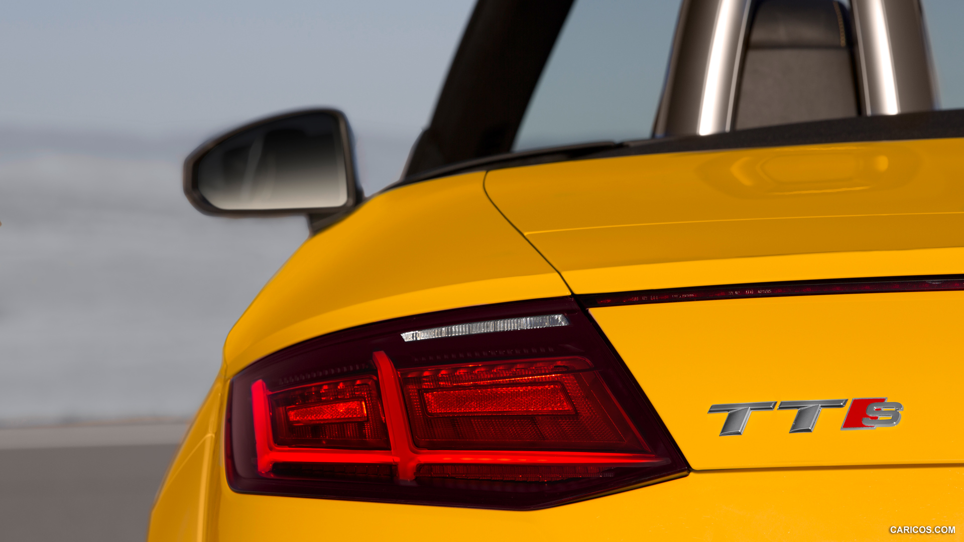 audi tts roadster yellow cool
