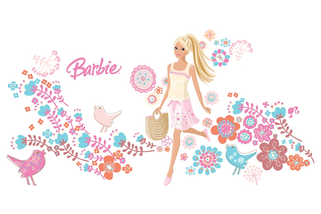 barbie wallpaper abstract