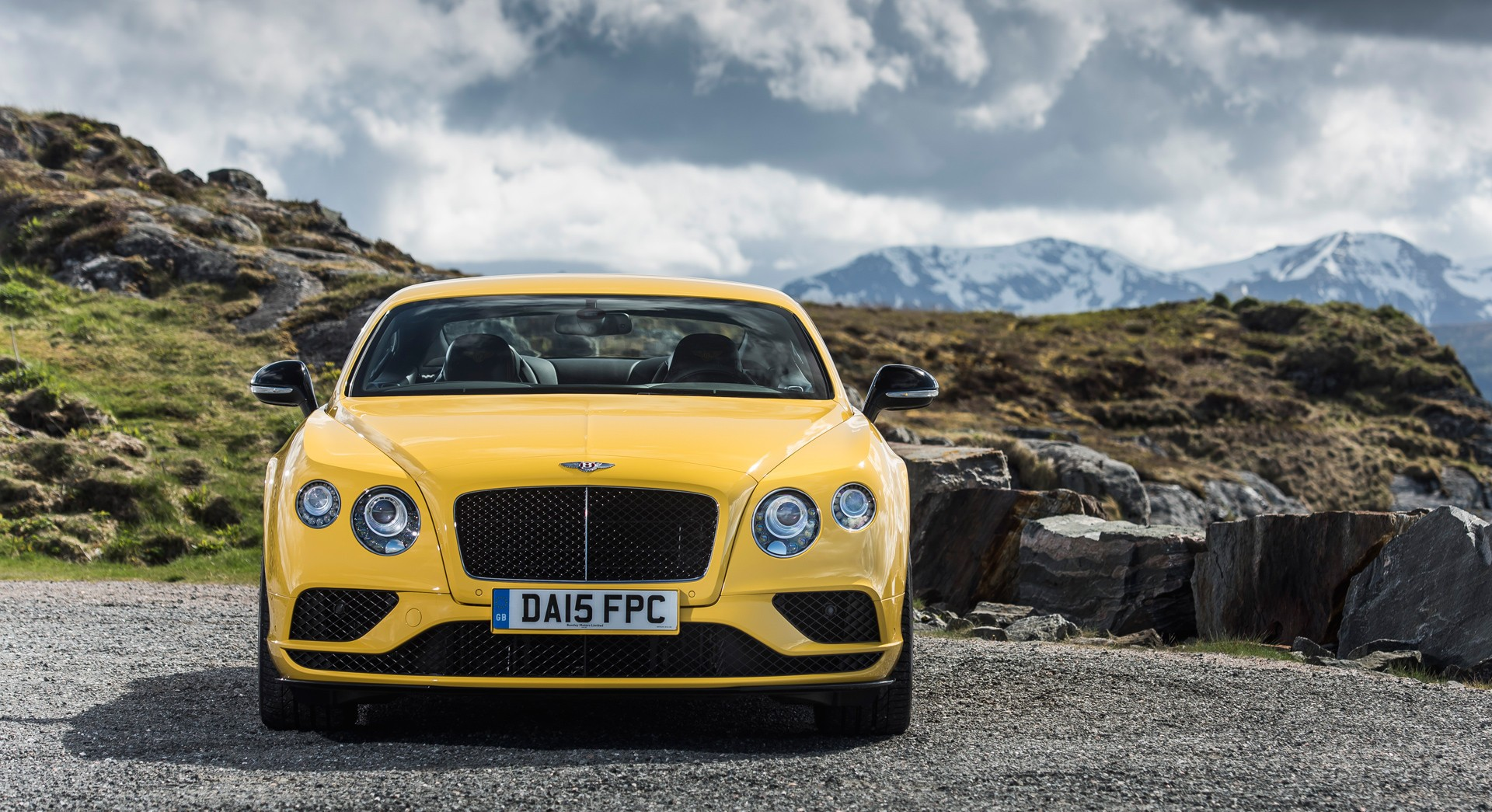 bentley continental gt v8 yellow