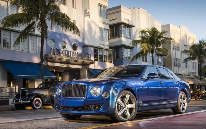 bentley mulsanne blue car