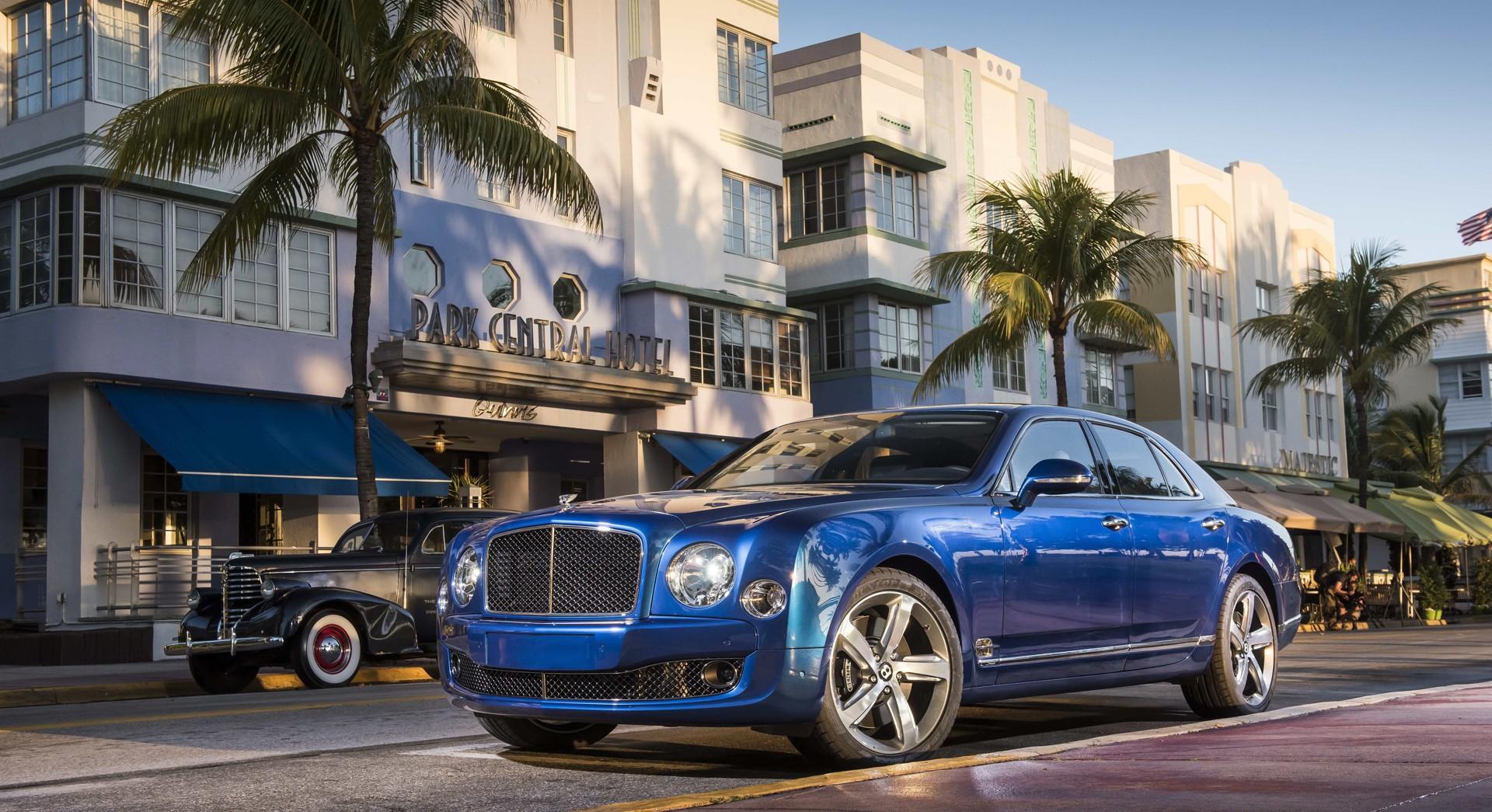 bentley mulsanne blue car