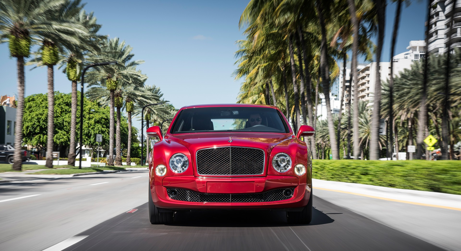 bentley mulsanne red cool car
