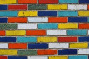 brick wallpaper Colorful
