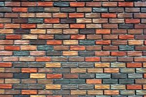 brick wallpaper colored
