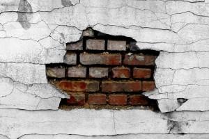 brick wallpaper cracked
