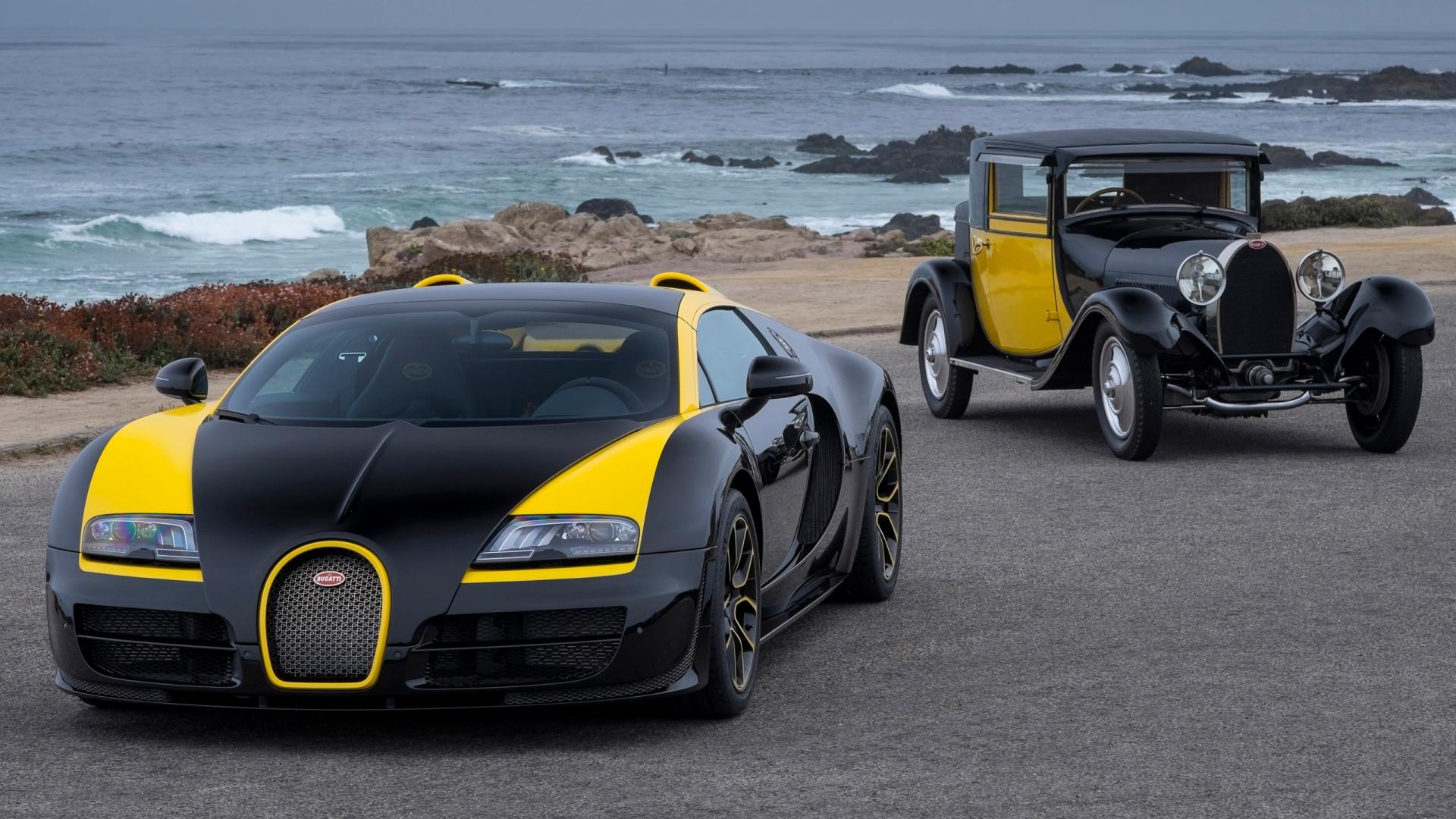 bugatti veyron wallpapers yellow