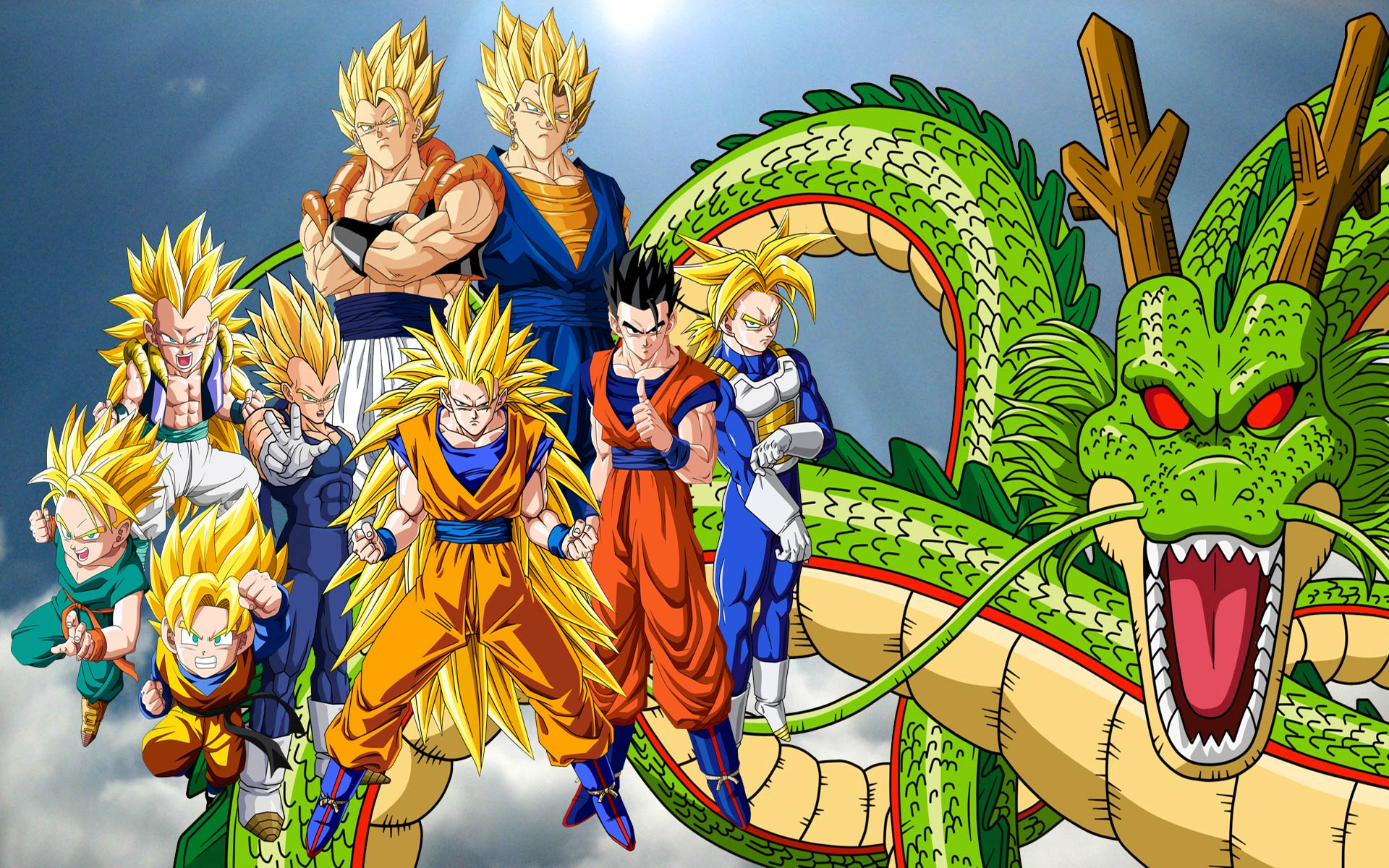 dragon ball z wallpapers team