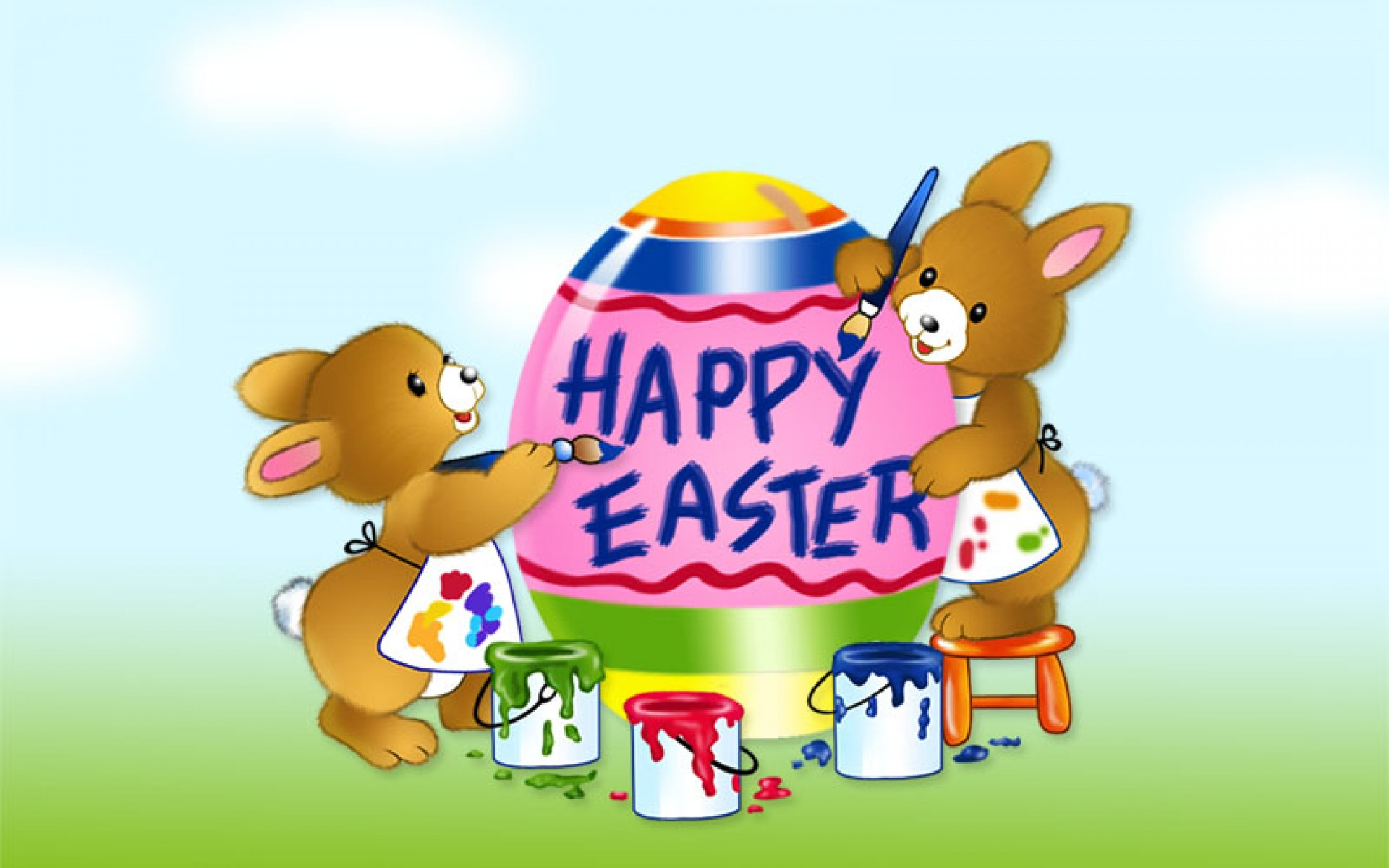 easter wallpapers bunny greetings