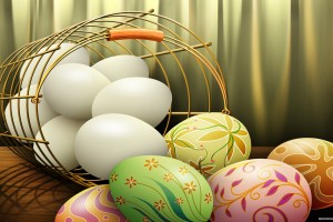 easter wallpapers eggs hd basket