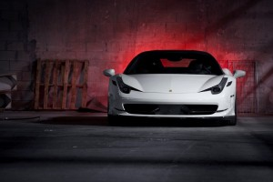 ferrari 458 italia white lights