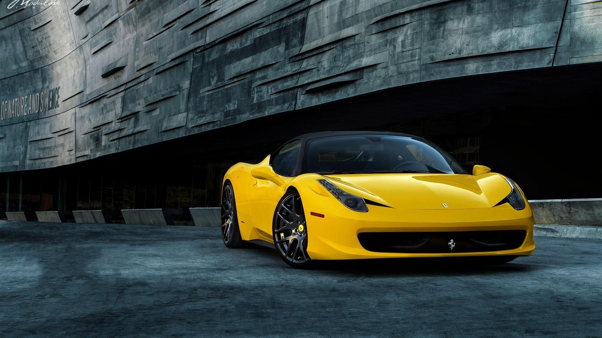 ferrari 458 yellow wallpaper