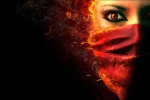 fire wallpaper girl