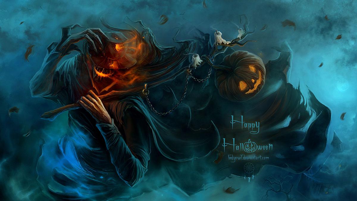 halloween wallpapers scarecrow