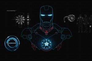 iron man wallpaper jarvis blue