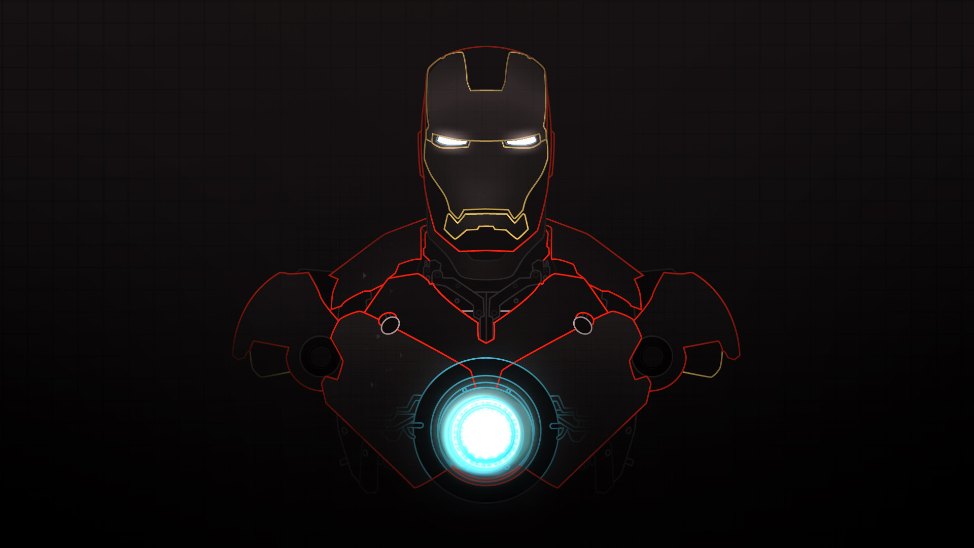 iron man wallpaper yellow red