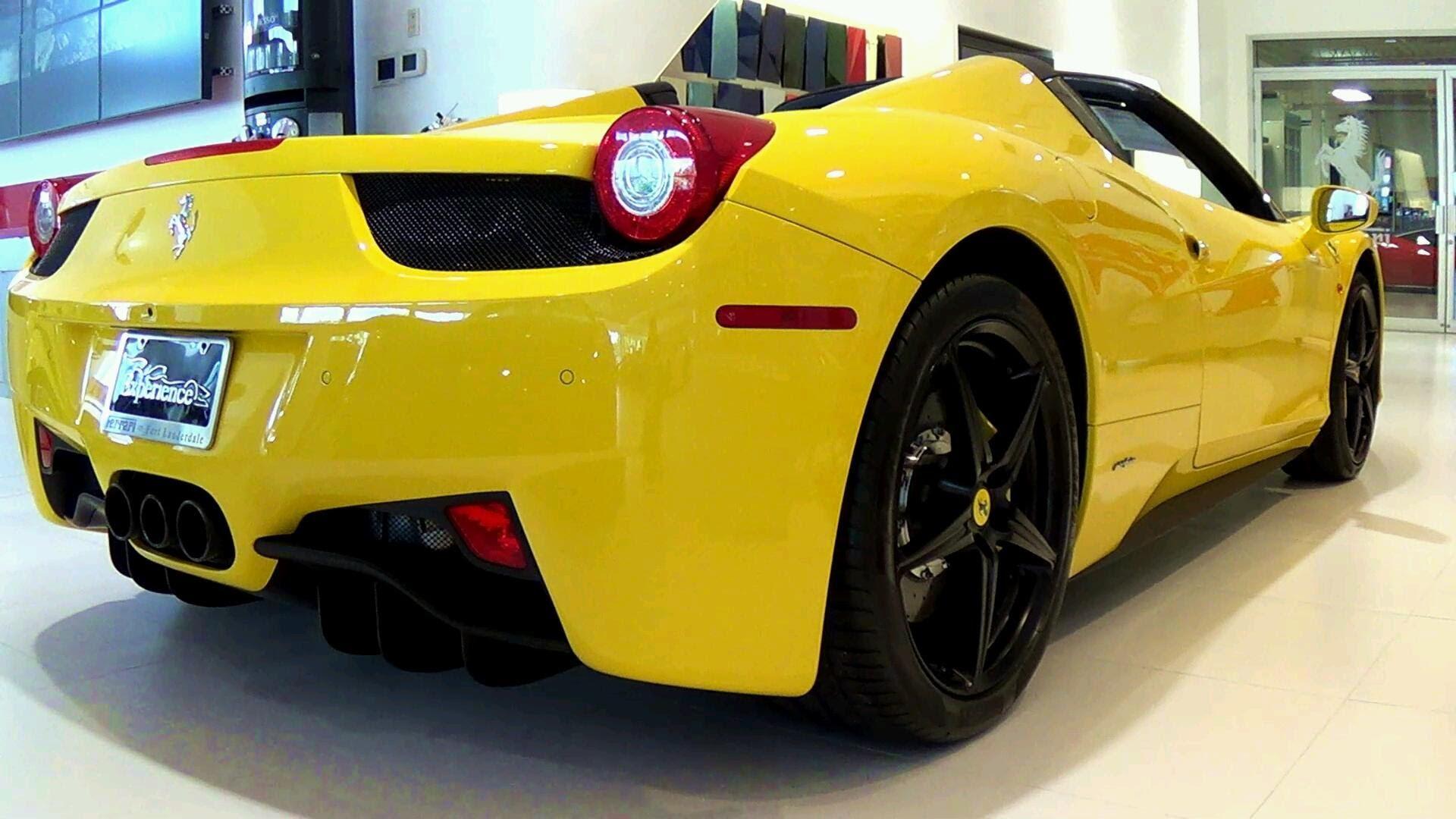 italia 458 yellow wallpaper