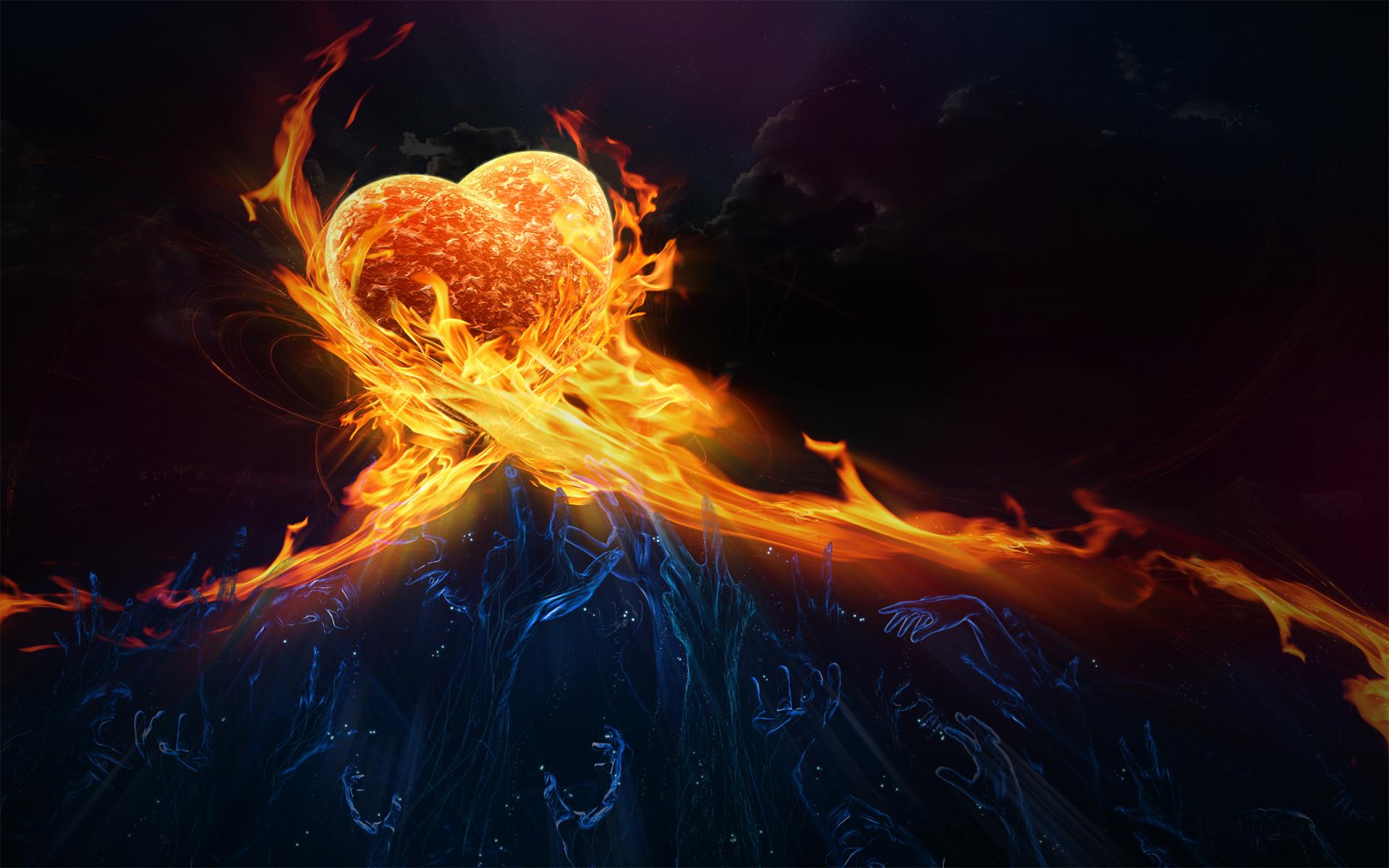 love fire wallpaper