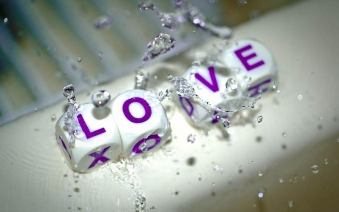 love wallpaper dices