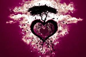 love wallpaper purple