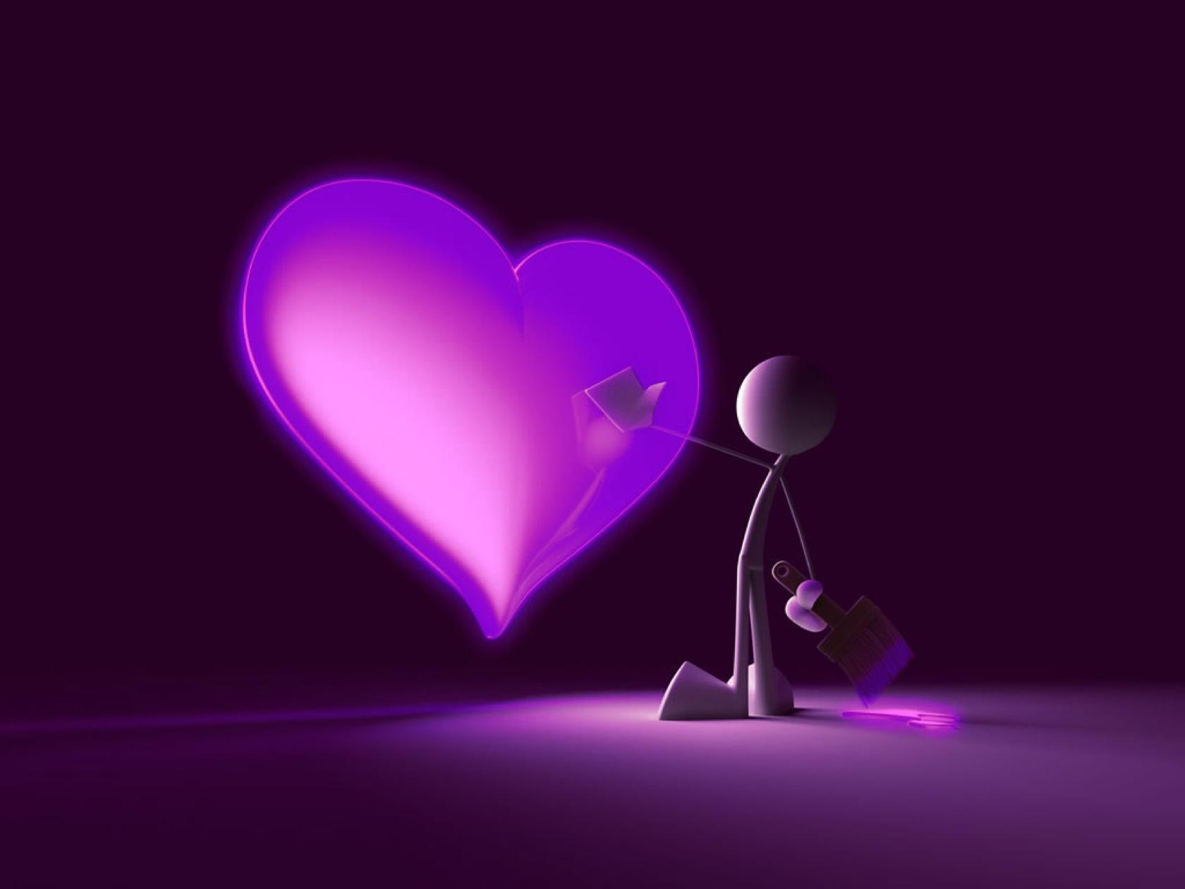 love wallpaper purple heart