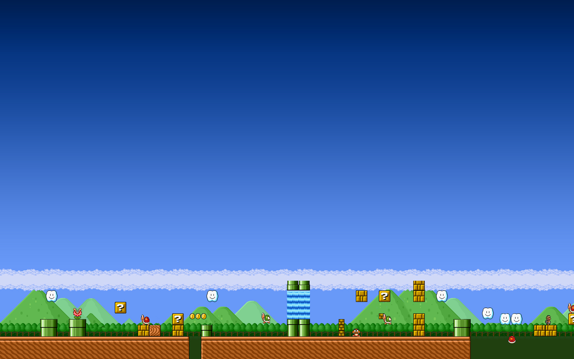 mario wallpaper blue