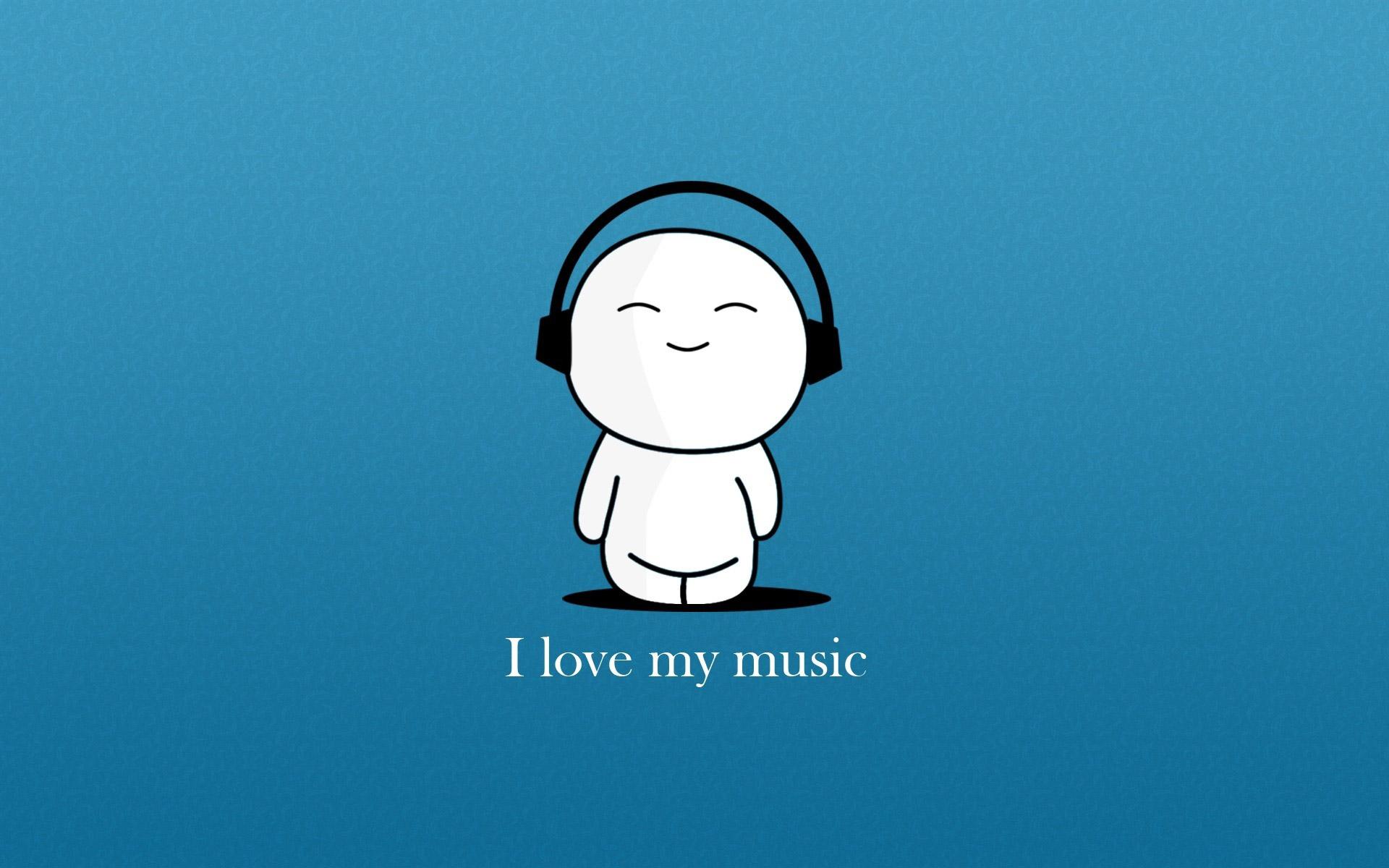 music wallpaper blue cartoon