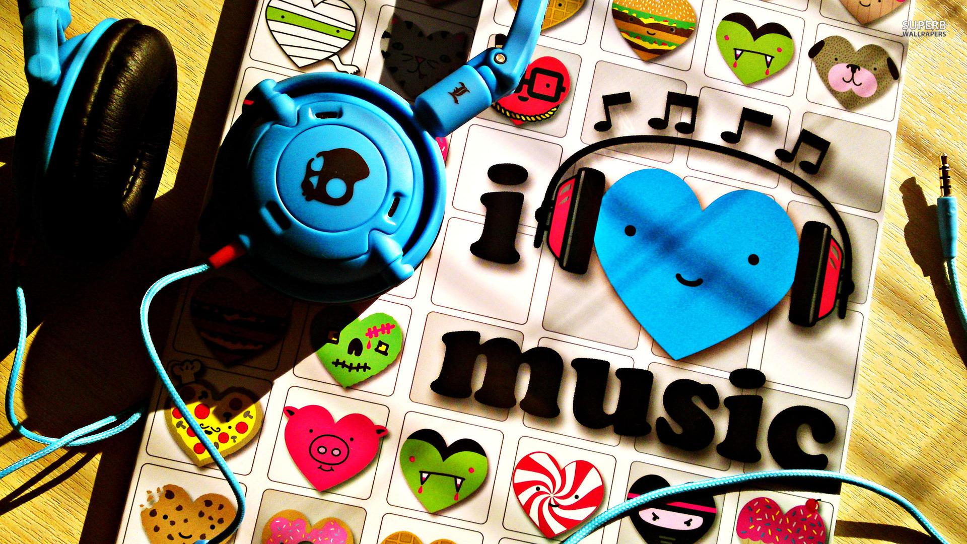 music wallpaper blue