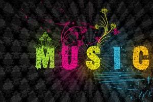 music wallpaper colorful