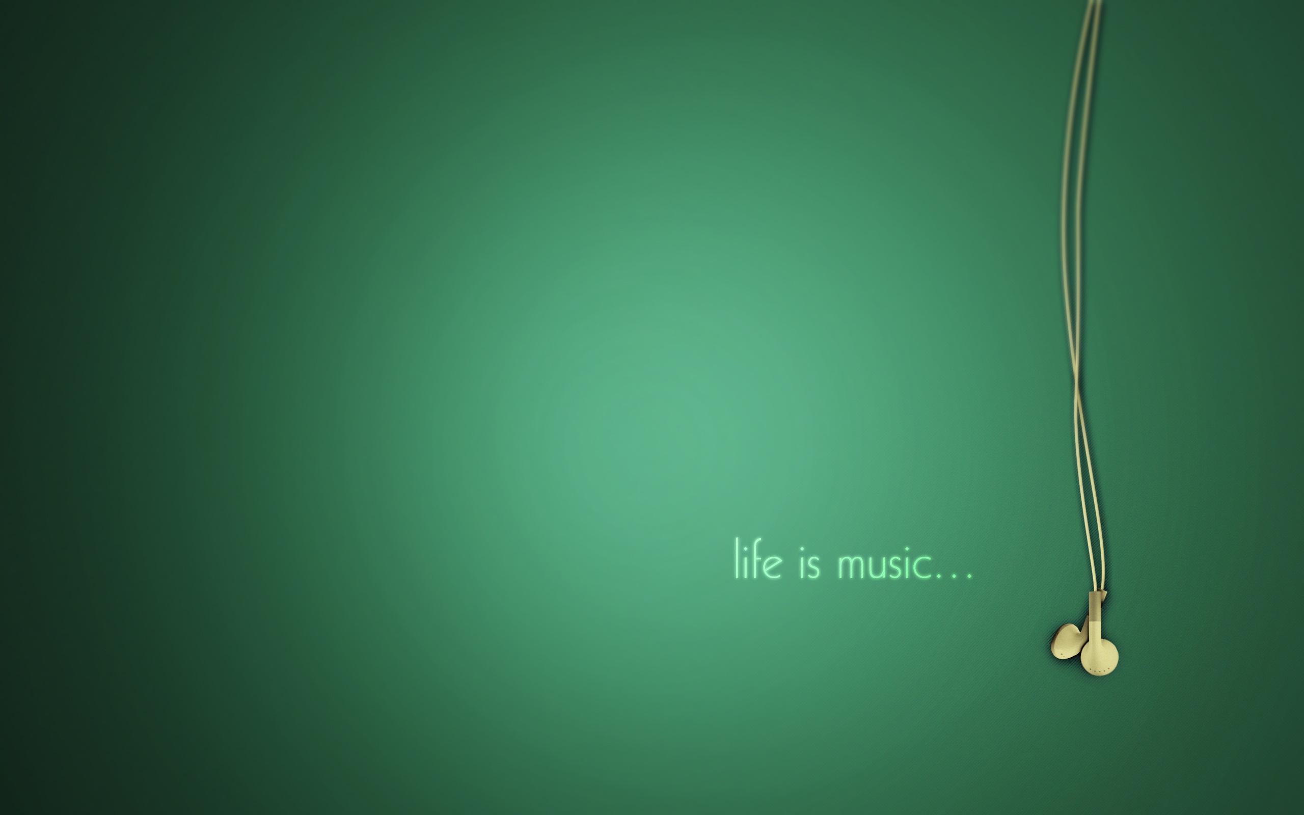 music wallpaper green