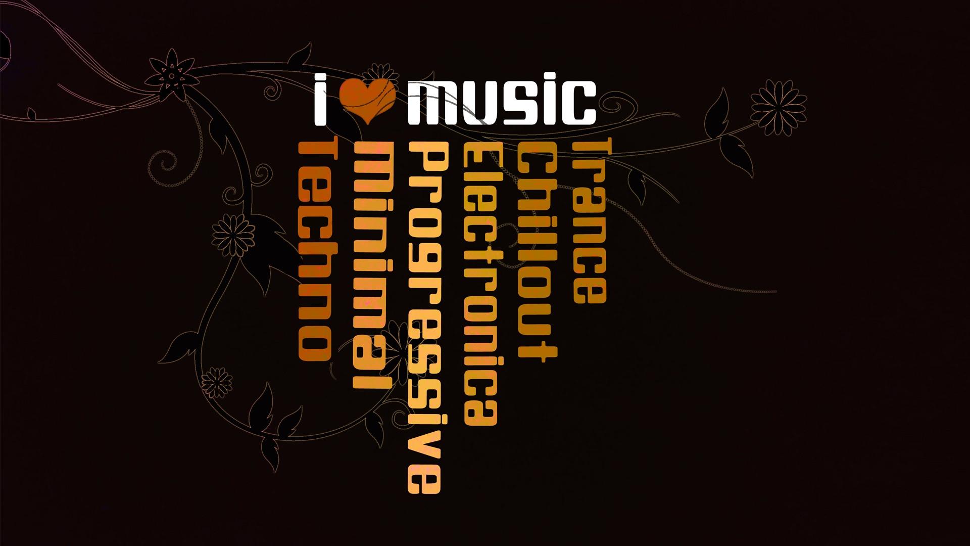 music wallpaper love