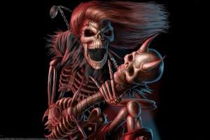 music wallpaper skeleton