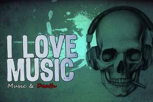 music wallpaper skull