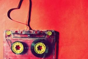 music wallpaper tape