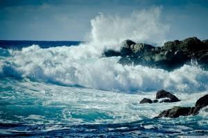 ocean wallpaper crashing waves