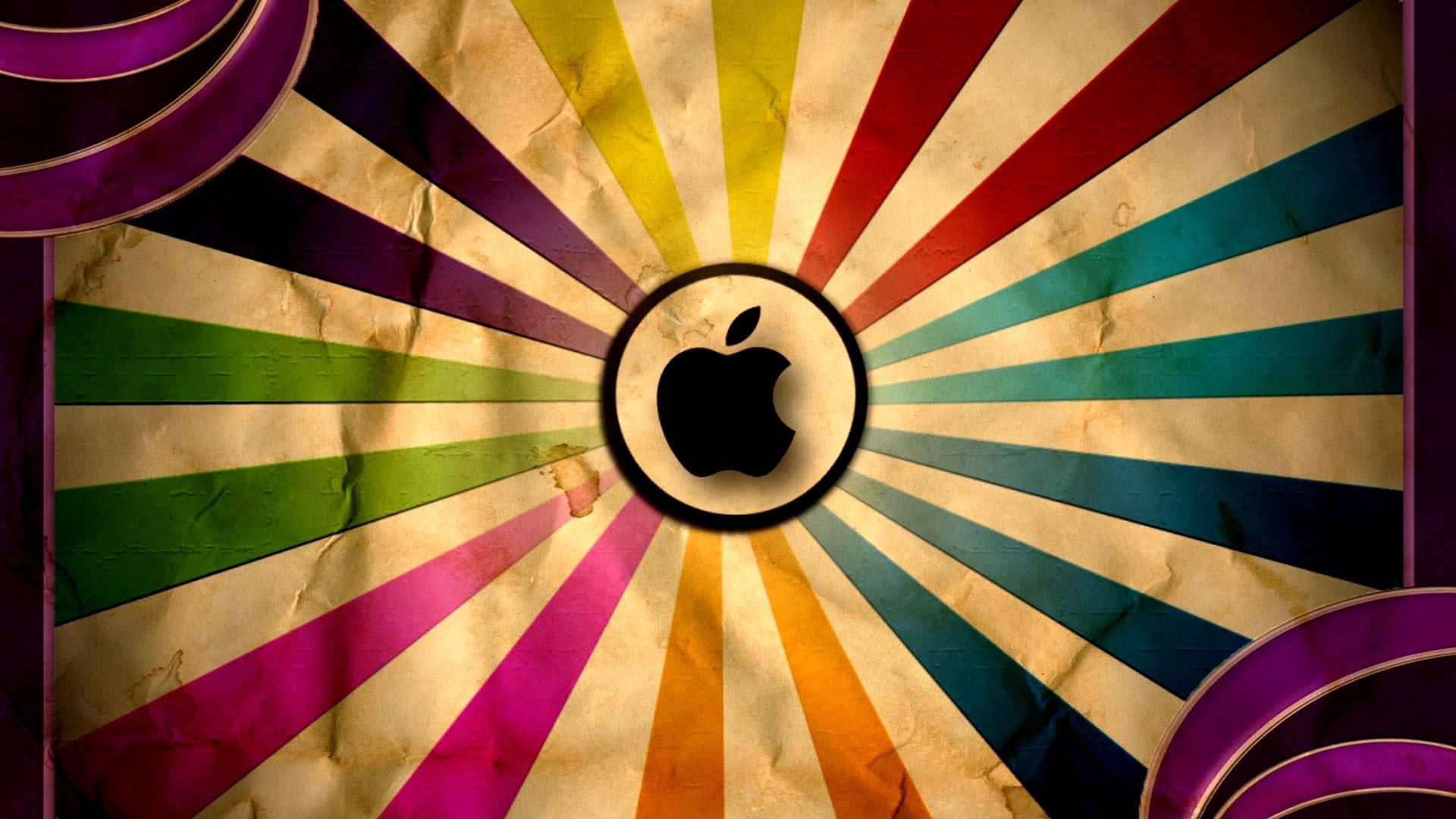 retro wallpaper apple