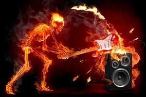rock wallpapers fire