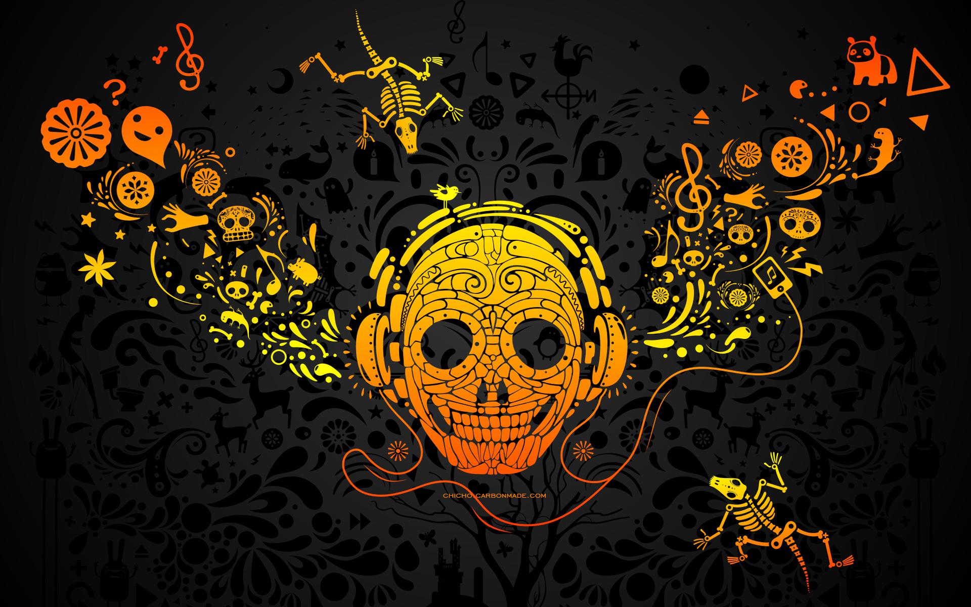 rock wallpapers skull