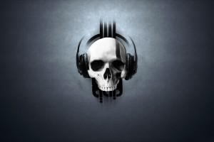skull wallpapers headset
