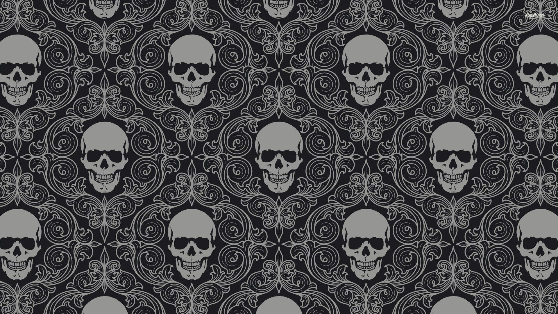 skull wallpapers widescreen