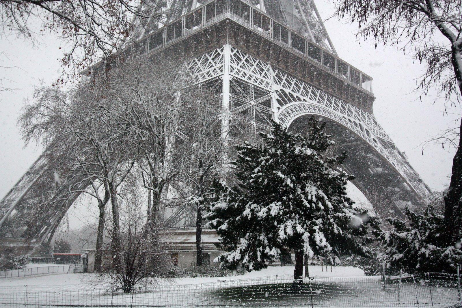 snow falling wallpaper paris