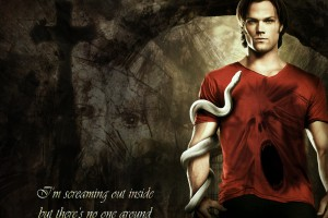 supernatural wallpapers red shirt