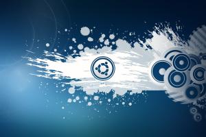 ubuntu wallpaper blue